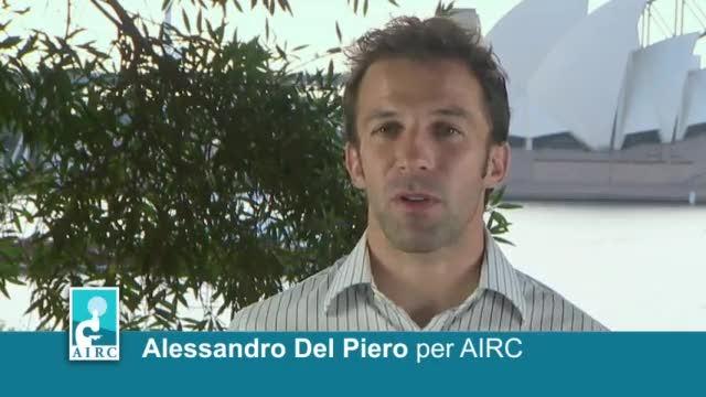 Del Piero sta con Airc