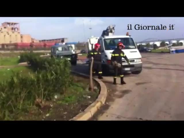 Tromba d'aria a Taranto