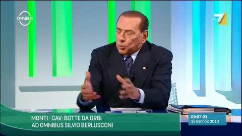 """Berlusconi: """"Il mio nemico? Bersani, non Monti"""""""