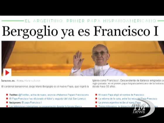 I giornali argentini festeggiano il loro Papa