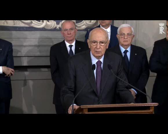 """Napolitano: """"Piena fiducia a Letta"""""""