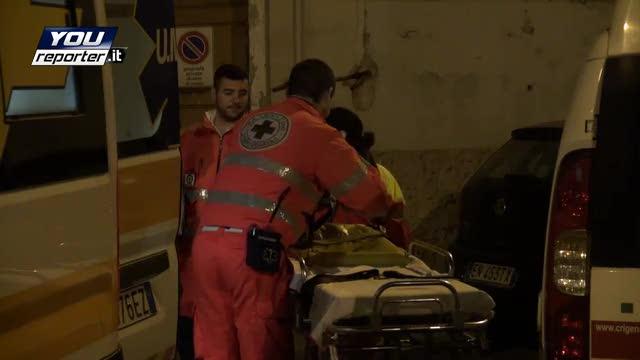 Genova, l'arrivo dei soccorritori