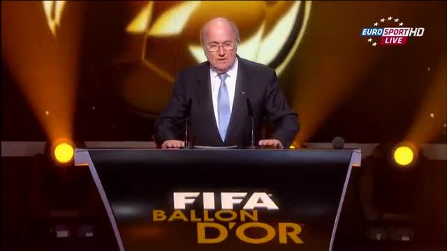 Il premio FIFA alla carriera nel 2012