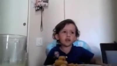 """Bimbo non vuole mangiare il polipo """"E' un animale!"""""""