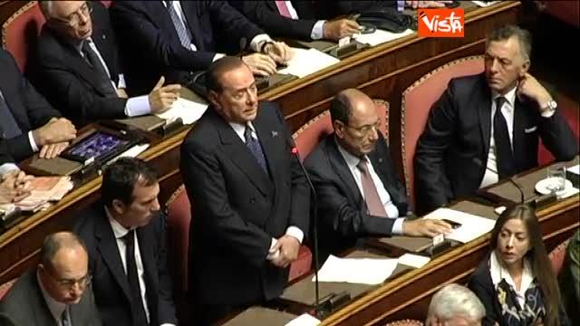 """Berlusconi: """"Daremo fiducia al governo"""""""