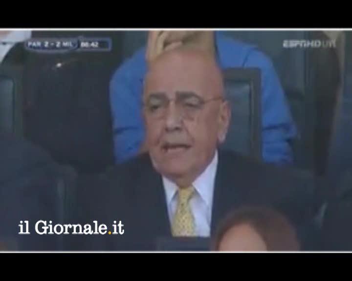 """Il labiale inchioda Galliani e il """"Vaff.."""" a Birsa"""