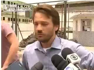 Rio de Janeiro, schiaffo in diretta a un funzionario pubblico