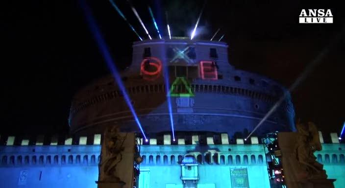 La PS4 sbarca in Italia: spettacolo a Castel Sant'Angelo