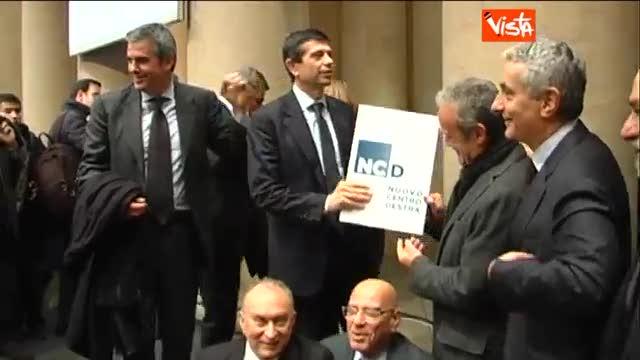 Alfano, Lupi e Quagliariello presentano il logo di Ncd
