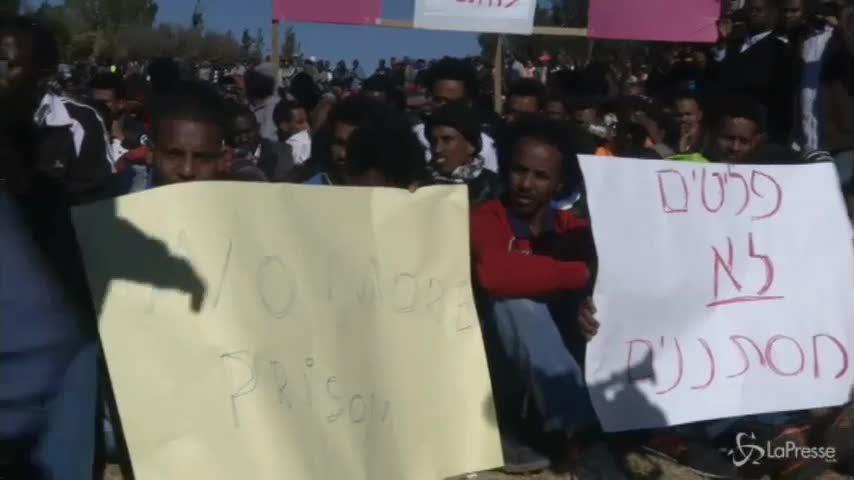 Israele, manifestanti in protesta