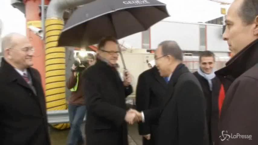 Ban-ki Moon a Ginevra per la pace in Siria