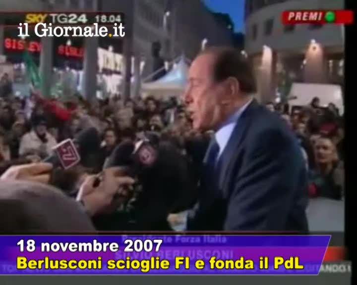 2007, Berlusconi scioglie Forza Italia e fonda il Pdl