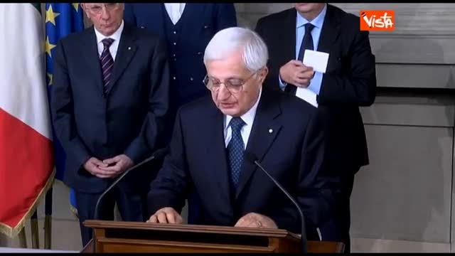 """L'annuncio di Marra: """"Napolitano ha conferito l'incarico"""""""