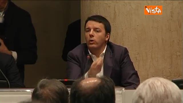 """Renzi: """"O l'Ue è sfida politica o perderemo"""""""