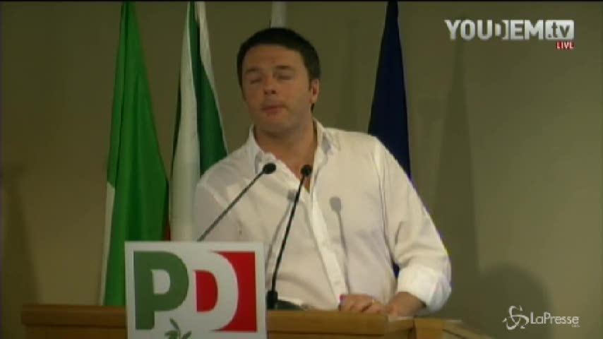 "Europee, Renzi: ""Tutte donne le capolista del Pd"""