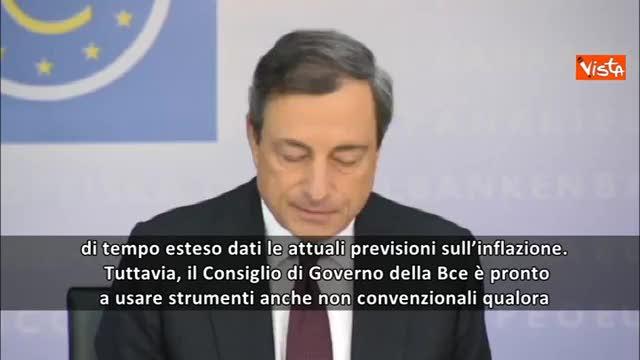 """Draghi: """"Bce pronta a misure non convenzionali"""""""