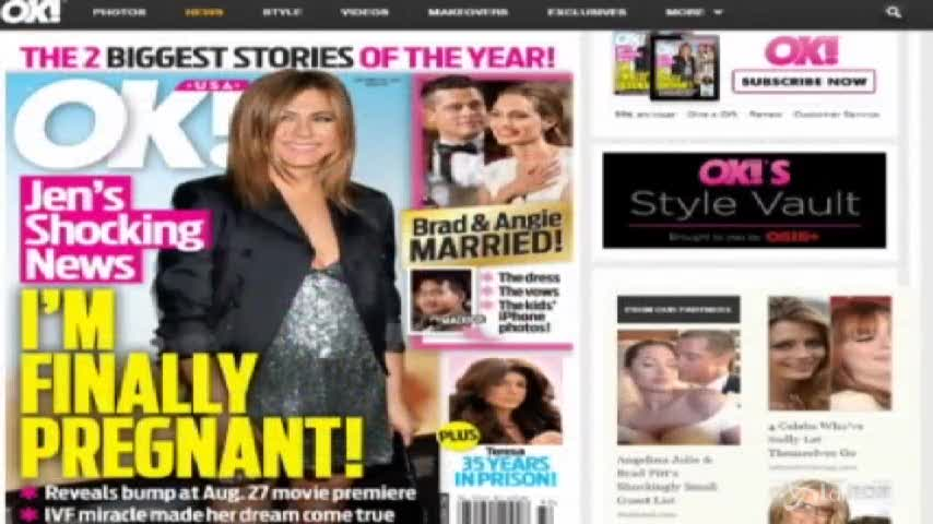 Jennifer Aniston sarà presto mamma