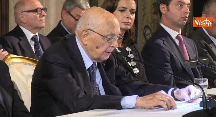 """Napolitano: """"Necessaria riforma della giustizia"""""""