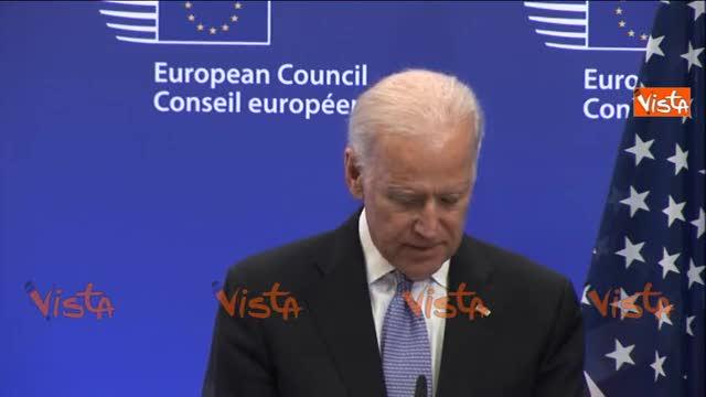 """Biden: """"Mosca non può ridisegnare l'Europa"""""""