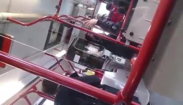 Roma, l'autista del bus in preda ad una crisi di nervi