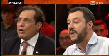 Crocetta-Salvini, scontro in diretta