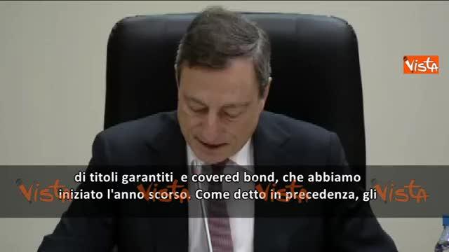 """Draghi: """"Acquisto di bond per 60 miliardi"""""""
