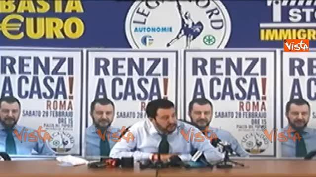 """Salvini: """"Election day il 31 maggio? Renzi ha paura"""""""