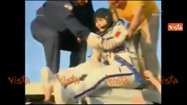 AstroSamantha torna sulla terra