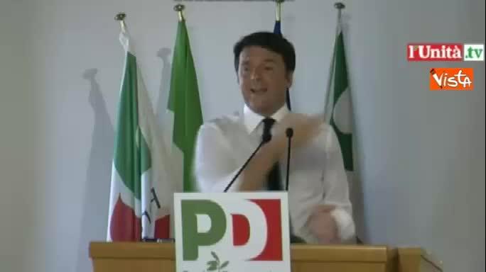 """Renzi: """"Non si usi il Sud per beghe di partito"""""""
