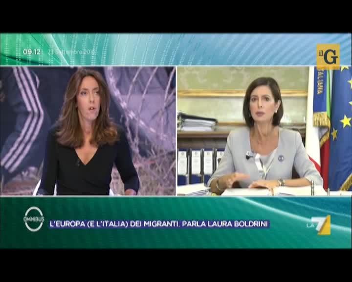 Boldrini: i migranti economici devono essere rimpatriati