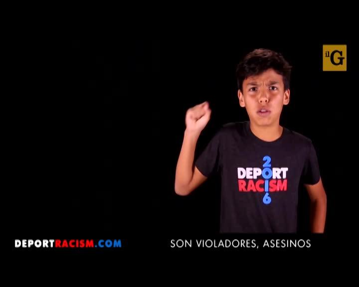 "Bambini ""latinos"" contro Donald Trump"