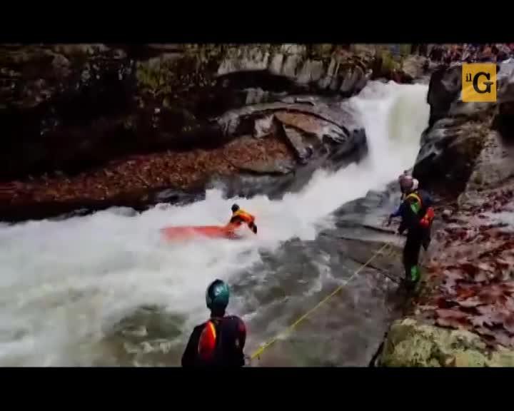 Incidente di rafting, salvataggio spettacolare