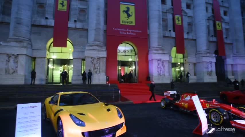 82890ed1e2 La Ferrari si quota in Borsa: Piazza Affari si tinge di rosso ...