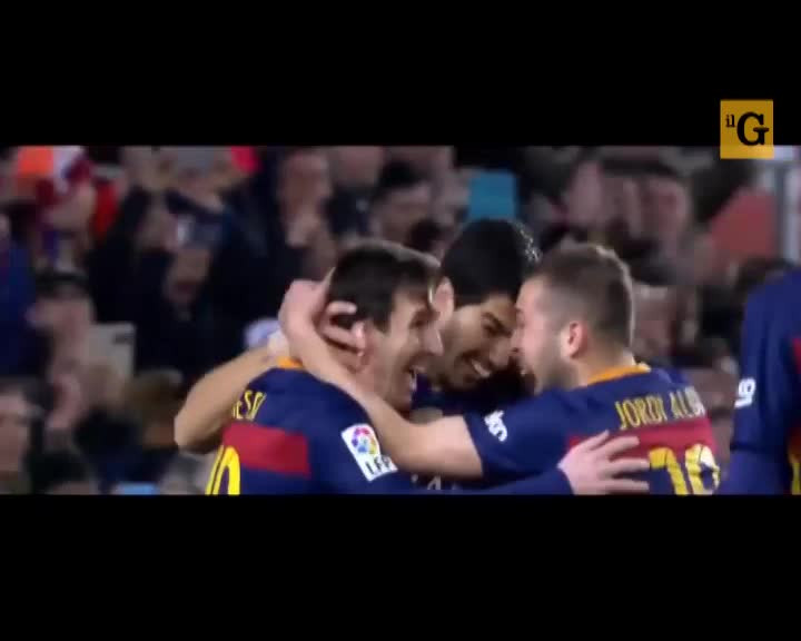 Messi e Suarez battono un rigore di seconda
