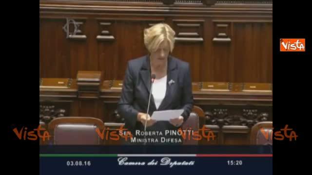 """La Pinotti: """"Italia darà le basi"""""""