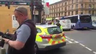 Glasgow, crolla parte di un ristorante italiano