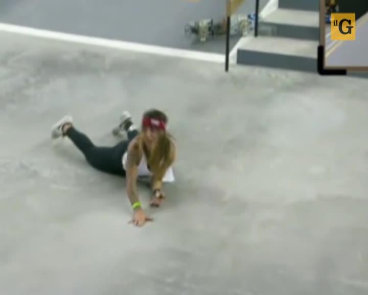 Campionato di Skateboard femminile. La brutta caduta di Leticia Bufoni