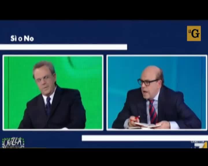 Crozza, Si o No. Il dibattito surreale fra Razzi e Zagrebelsky