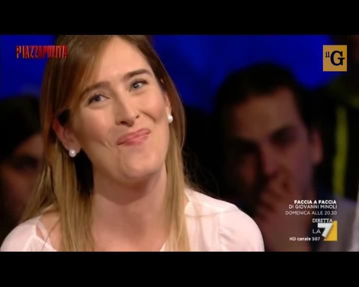 """La Boschi a Formigli: """"Non giudicatemi per le scarpe"""""""