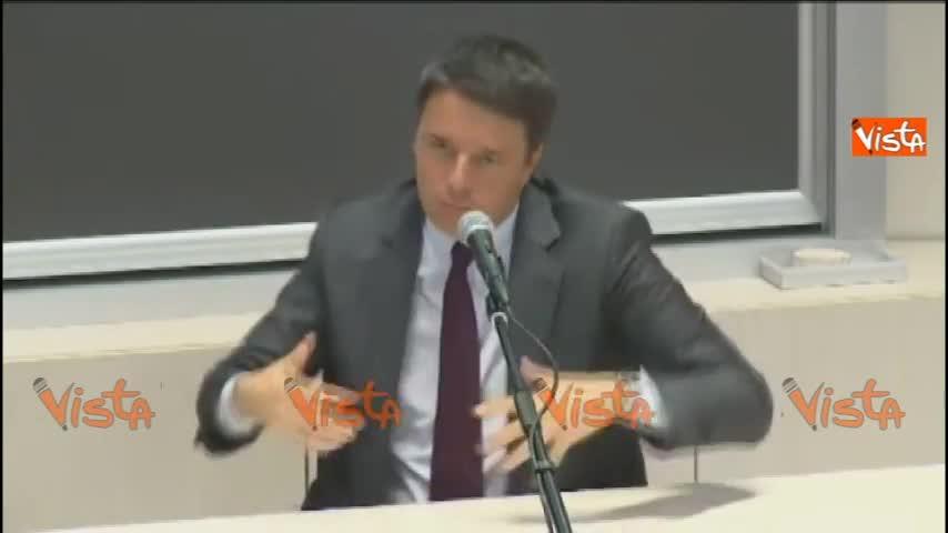 Renzi sul bicameralismo paritario