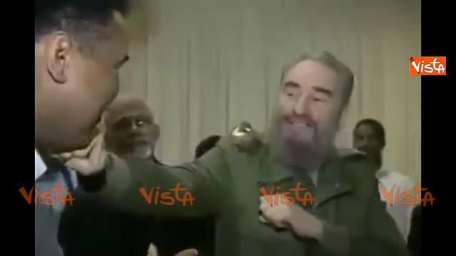 Fidel Castro con il pugile Muhammed Ali