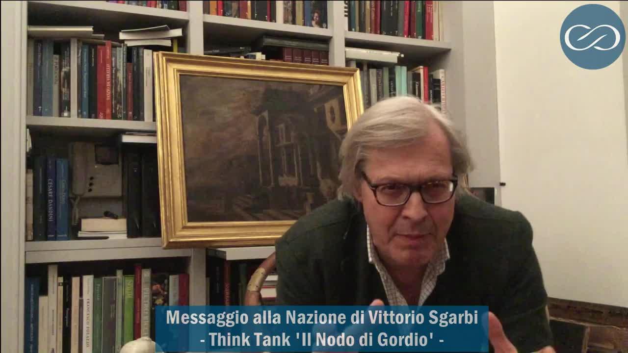 Il messaggio agli italiani di Vittorio Sgarbi