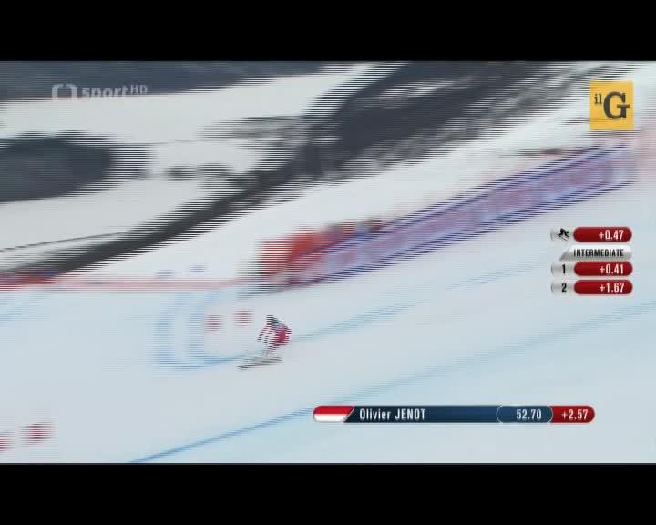 Mondiali di sci. Brutto volo di Jenot che atterra di schiena