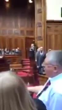 """""""Non ci serve l'Unione Europea"""": Federica Mogherini contestata al Parlamento serbo"""