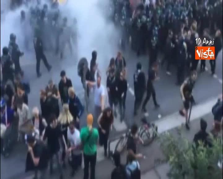 G20, scontri tra polizia e manifestanti