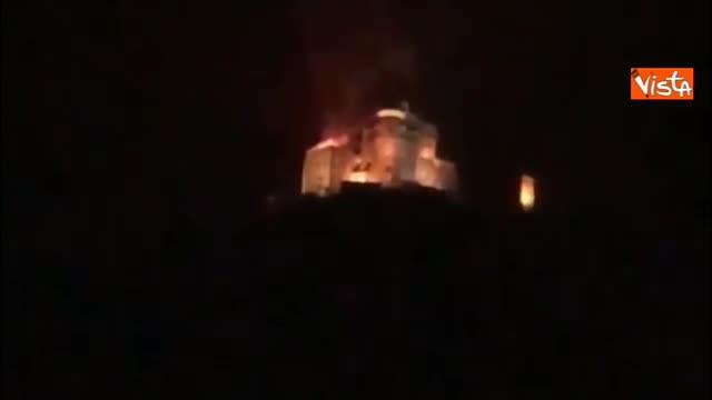 Incendio al convento alla Sacra di San Michele