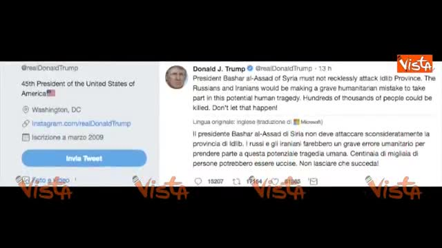Trump avverte Assad, Mosca e Teheran