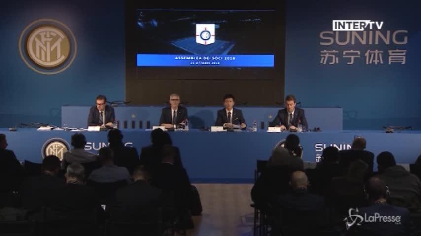 """Inter, il nuovo presidente del club Zhang: """"Obiettivo ricostruire la squadra su solide fondamenta"""""""