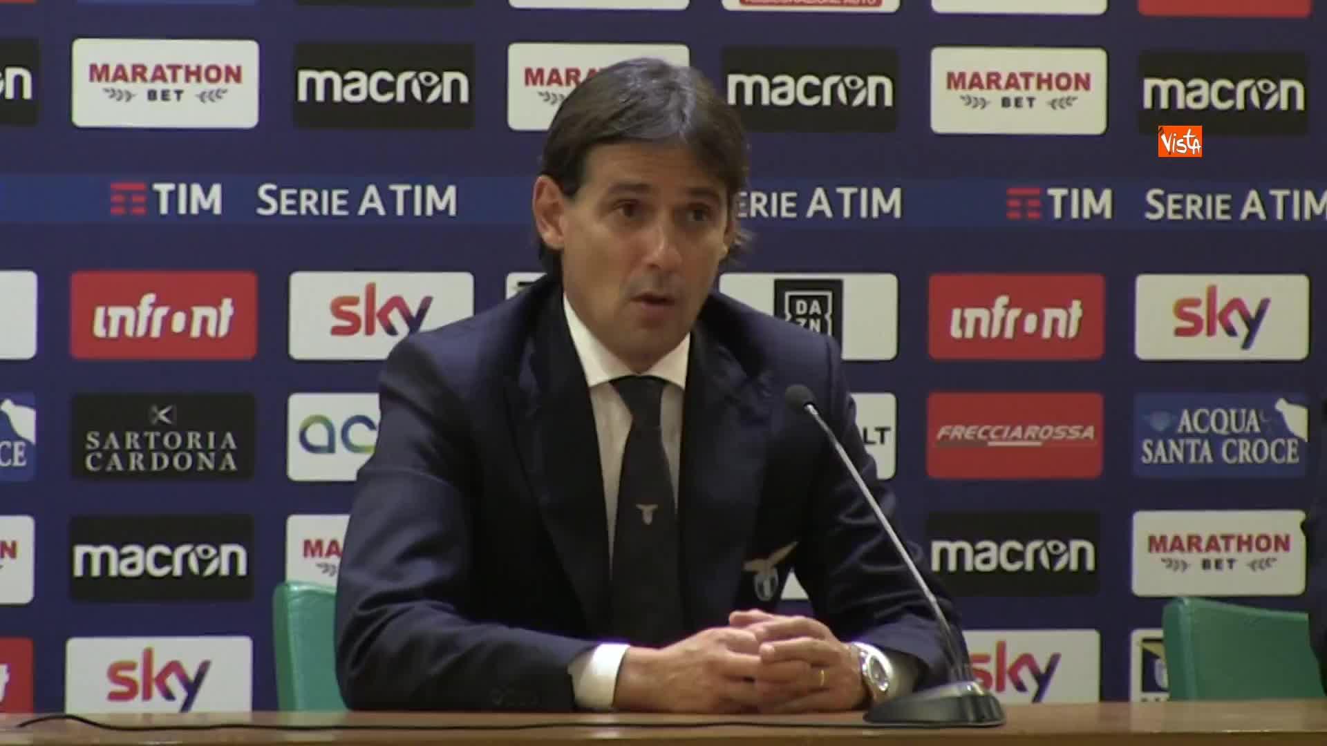 """Lazio-Inter, Inzaghi: """"Nessun alibi, avremmo dovuto far meglio"""""""