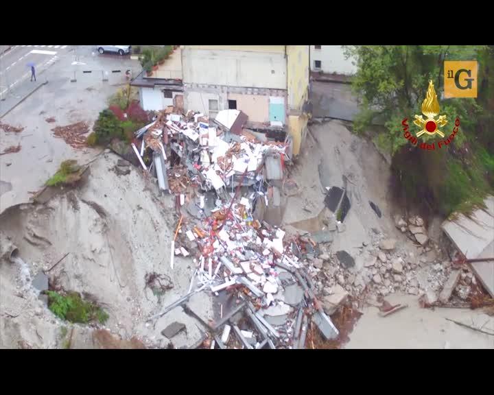 Drone sulle zone colpite dal maltempo in Veneto